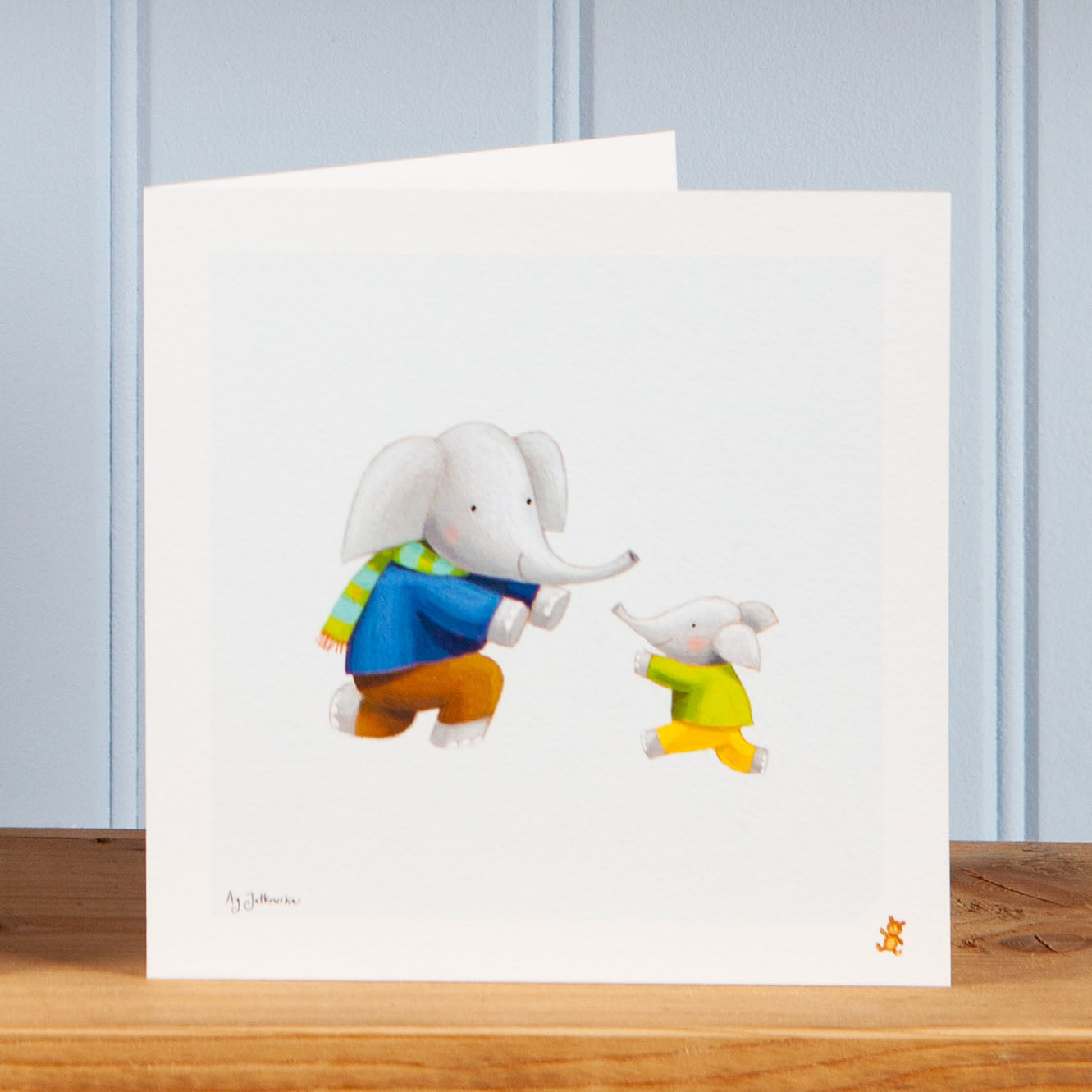 'Running to Dad' Greetings Card