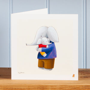 'Hugs with Dad' Greetings Card