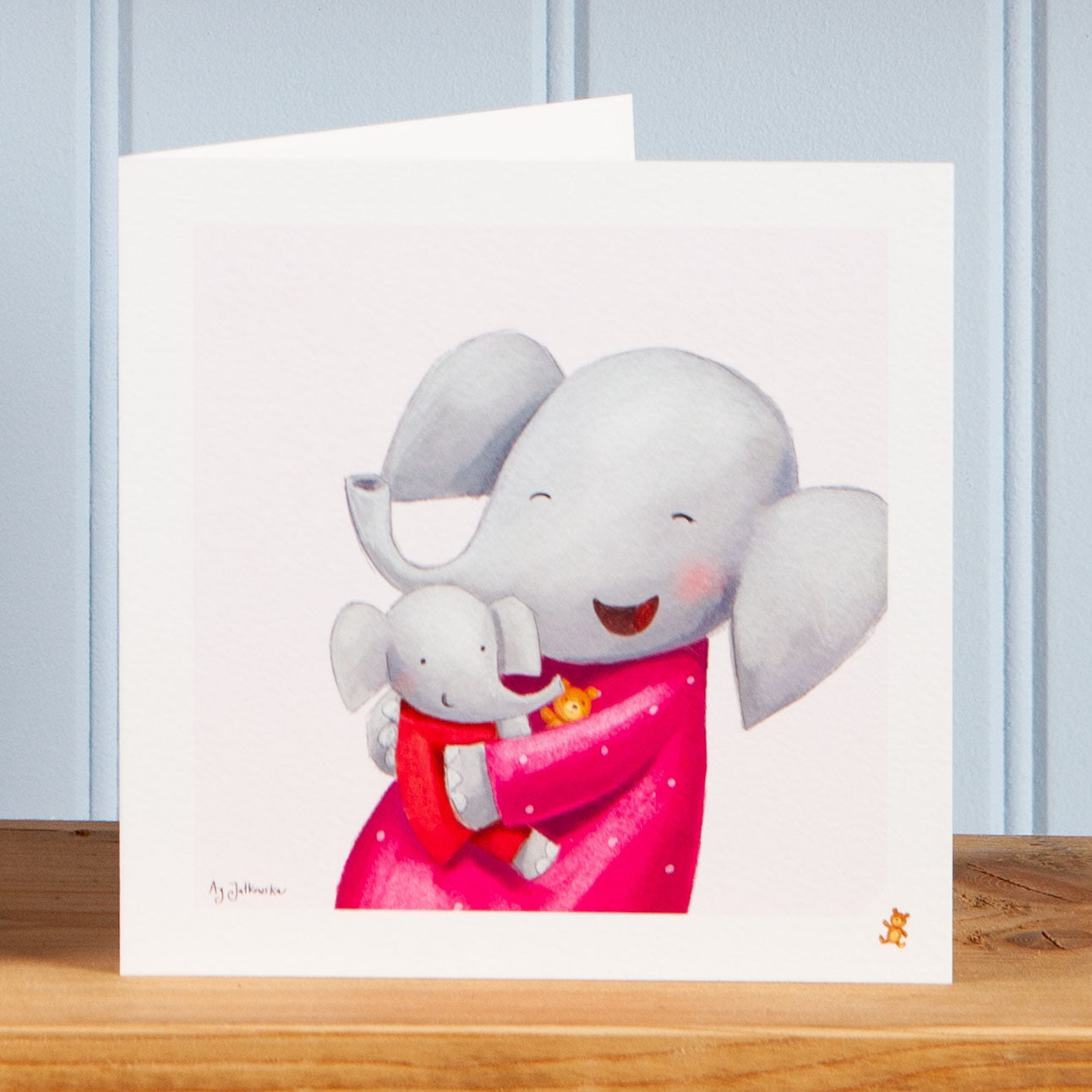 'Hugs with Mum' Greetings Card