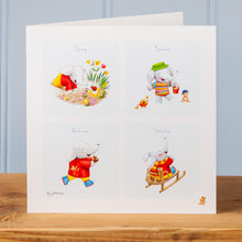 'Little Elephant's Big Year!' Set of Four Greetings Cards