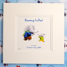 """Running to Dad"" - Fine Art Personalised Print with matching Greetings Card & Gift Wrap"