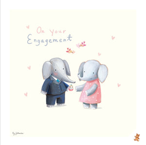 On your Engagement - His & Hers Fine Art Print & Card