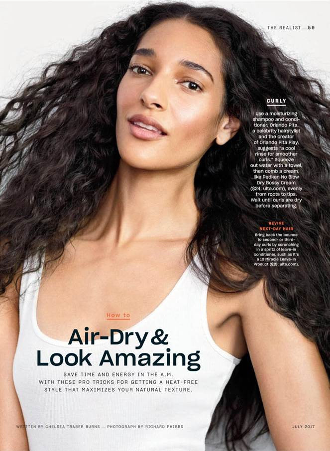 Real Simple Features It's a 10 Haircare in July 2017 Issue