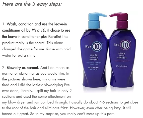 "It's a 10 Featured in ""Lux Locks"" 3 Steps to Sleek, Luxurious Hair at Home"""