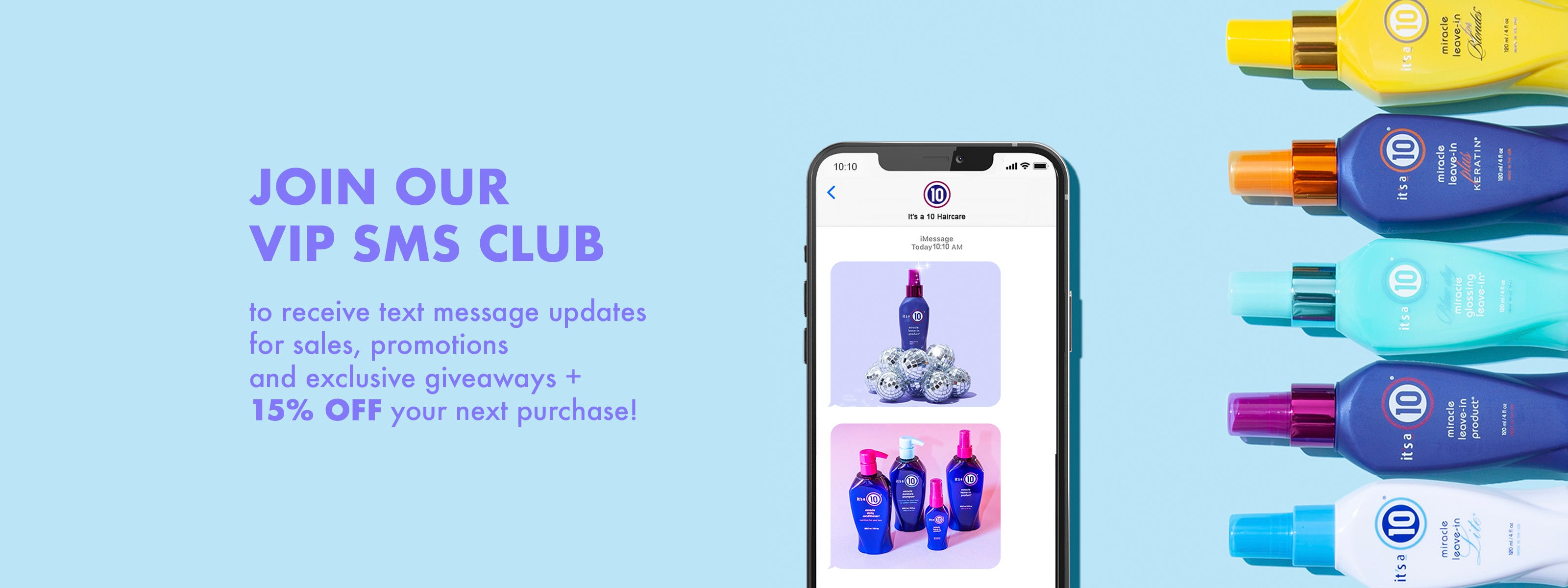 Join Our VIP SMS Club