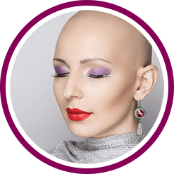 Glamorous looking woman with no hair for Its a 10 haircare