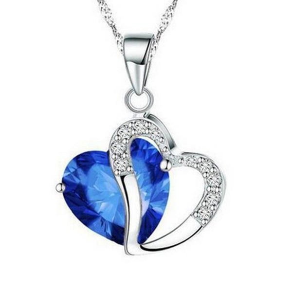 Heart-shaped Crystal Necklace