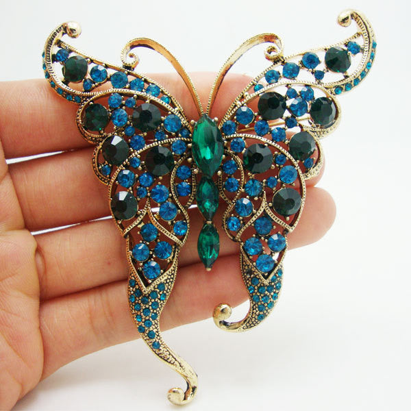 Unique Butterfly Crystal Pin