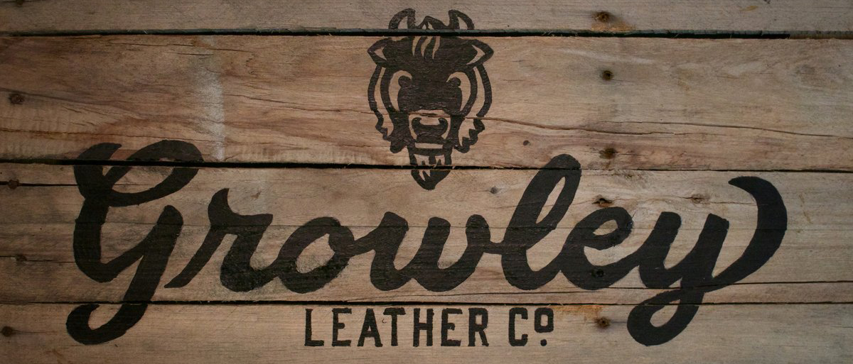 Growley Leather Co. Logo Handmade Leather Goods