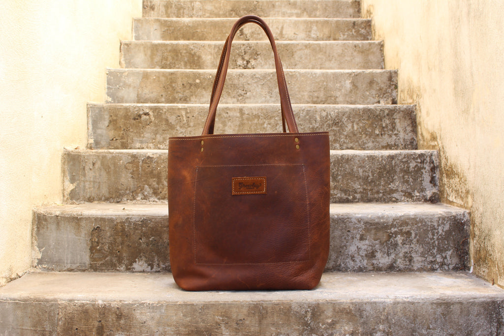Growley Leather Handmade Darcy Reversible Leather Tote