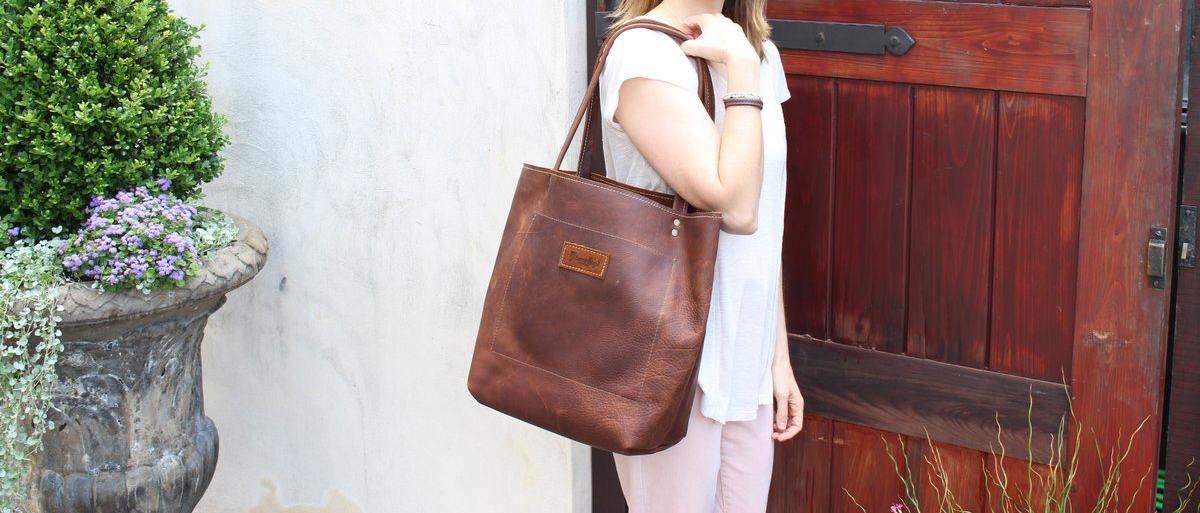 Growley Leather Handmade Leather Darcy Reversible Tote