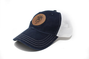 Bison Hat - Navy & White