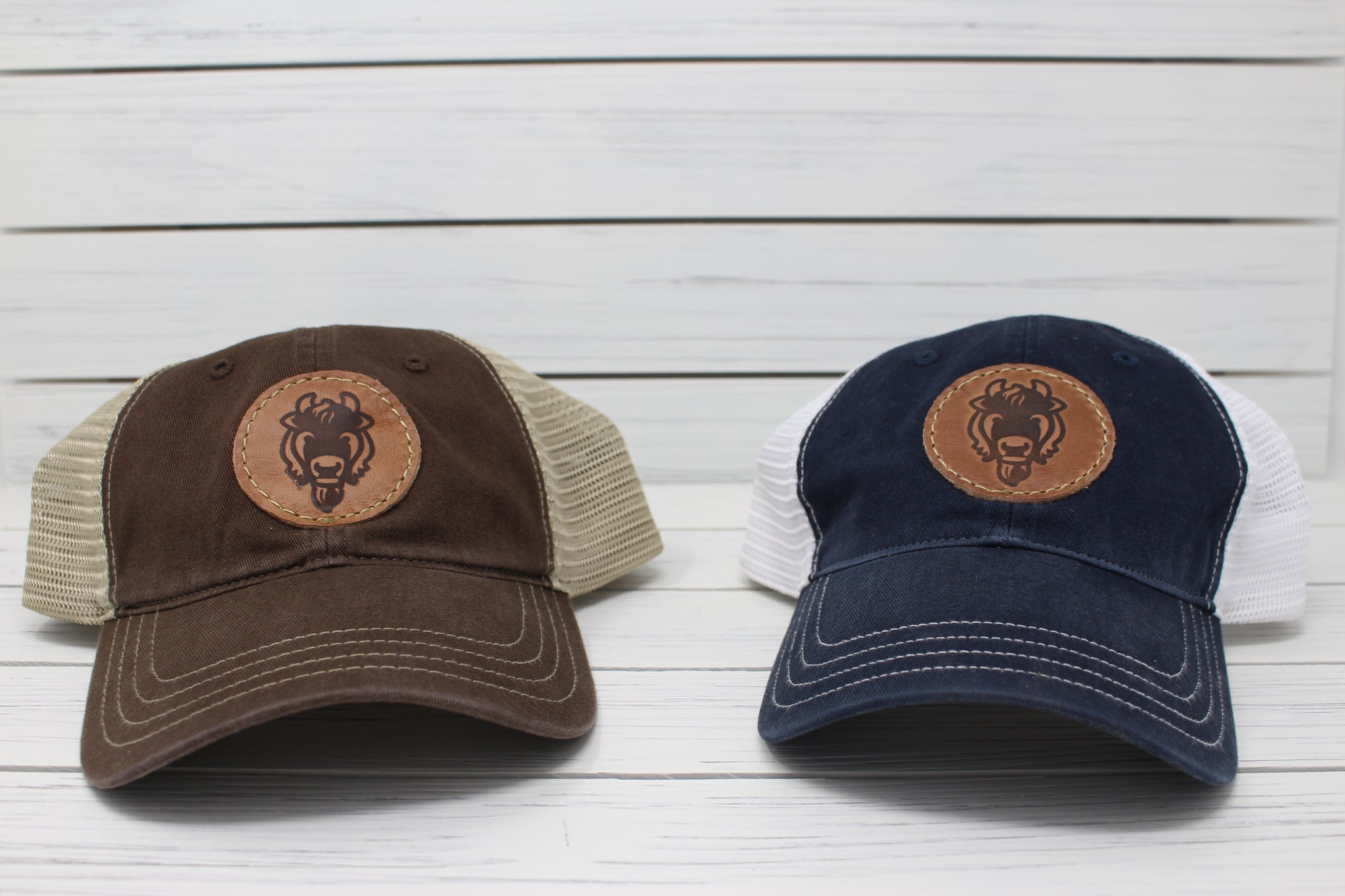 Bison Hat - Brown & Khaki