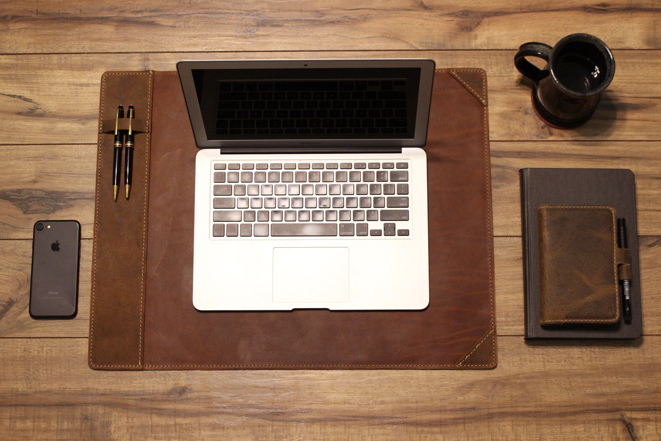 Leather Desk Pad Protector And Blotter Growley Leather Co