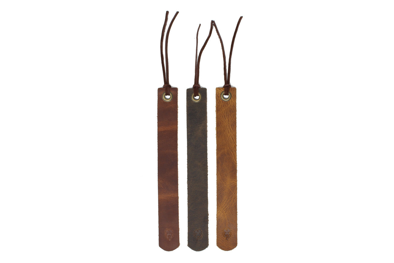 Leather Bookmarks - Set of 3