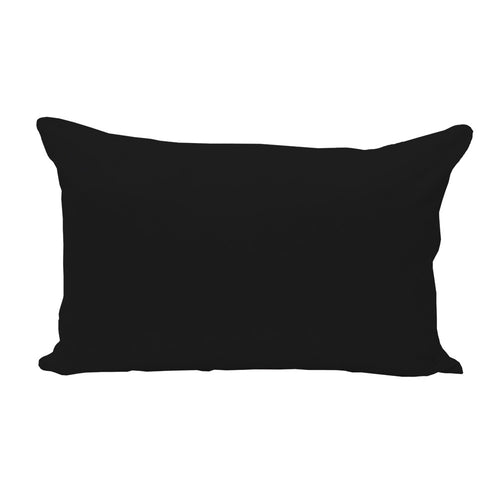Black Lumbar Pillow Cover - 3pk