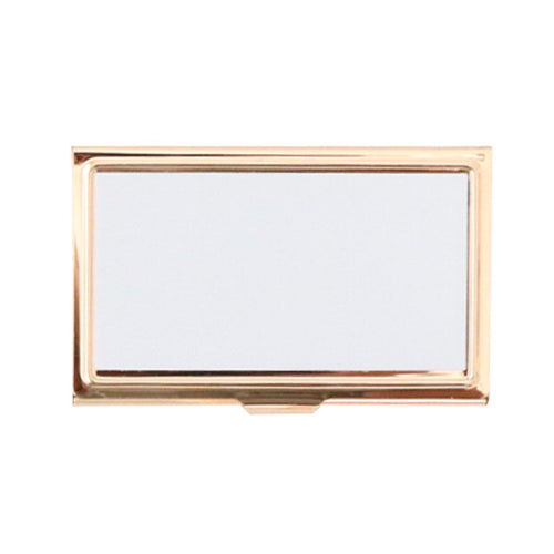 Gold Sublimation Business Card Holder - 3pk