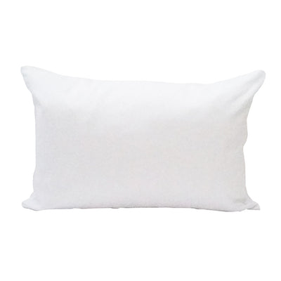 White Lumbar Pillow Cover - 3pk