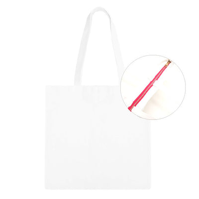 White/Pink Zip Tote Bag - 3pk