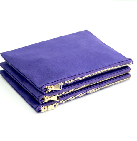 Purple Cosmetic Bags - 3pk