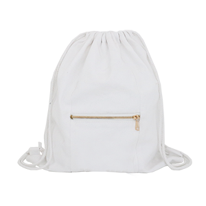 White Drawstring Bag - 3pk