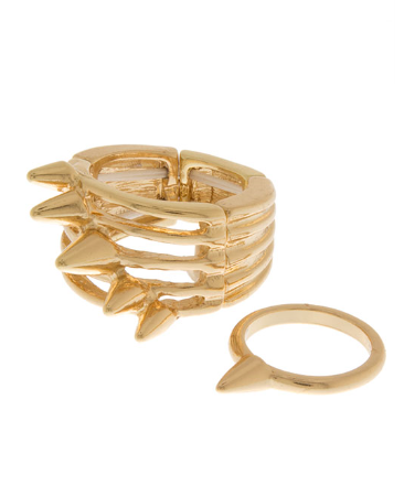 Spike Ring Set - Gold and Silver