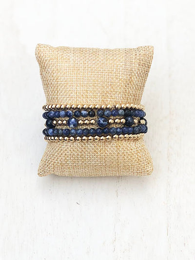 Game Day Bracelet Stack - Blue