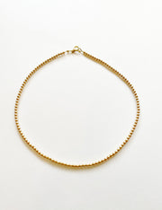 gold filled beaded choker - water resistant beaded necklace