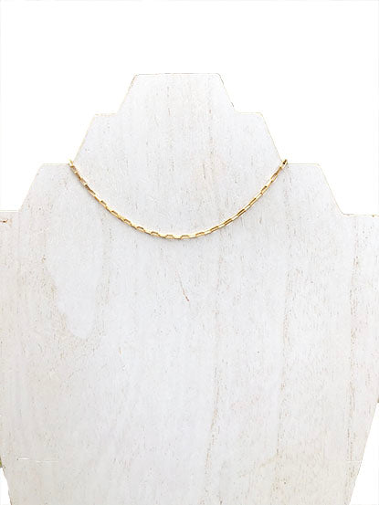 box chain choker necklace - jewelry like gorjana - 16 inch choker - best quality gold jewelry