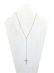 cross necklace - classic necklace designs - best quality gold jewelry - cross y necklace - layering gold pendant necklaces