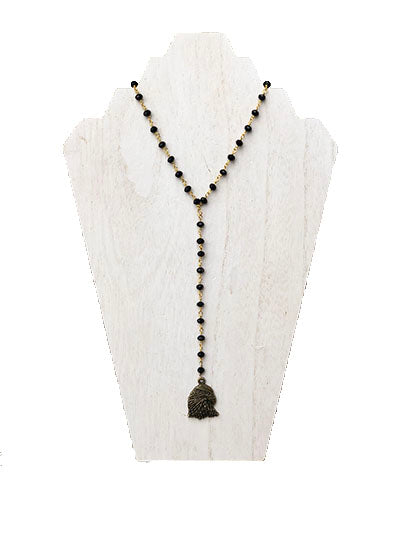 Eagle - Game Day Y Necklace - Black