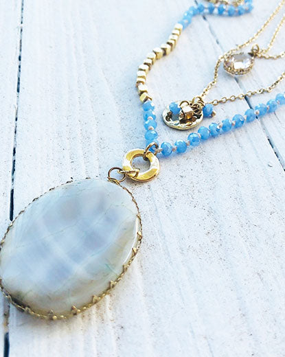 Crystal Oceans Layered Necklace