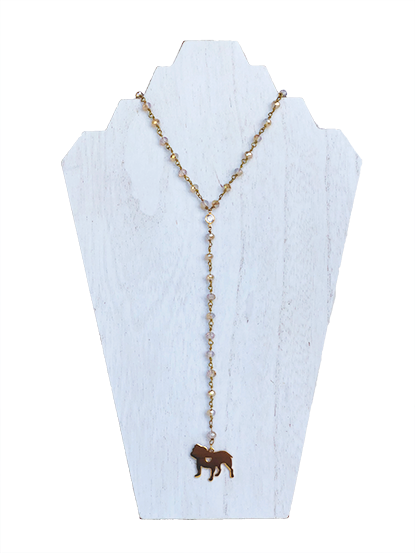 Bulldog - Game Day VIP Necklace - Champagne