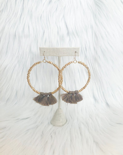 Tassel Hoops - 2 Colors