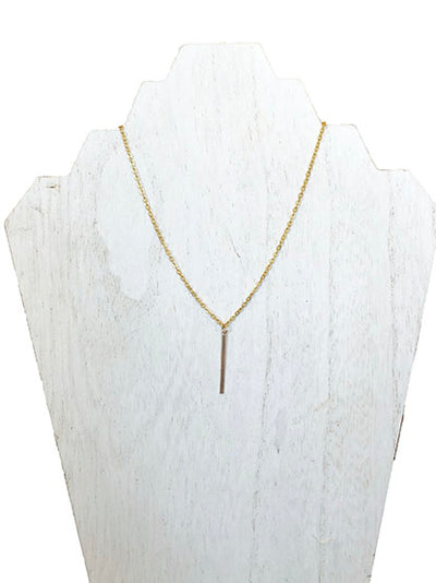 thin bar necklace - best gold chain necklace - layered necklaces