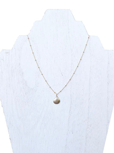best beachy jewelry - clamshell necklace - small jewelry store