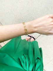 chain link gold bracelets - best gold accessories