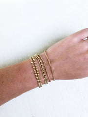 gold filled beaded stretch bracelets