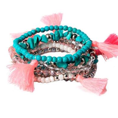 Turks and Tassels Bracelet Set