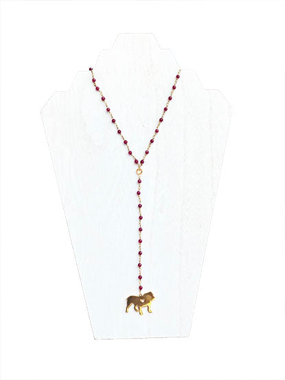mississippi state university maroon bulldogs necklace