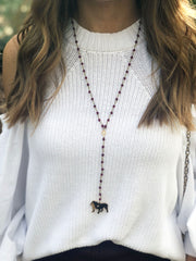 Mississippi state university game day jewelry - bulldog necklace