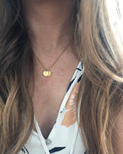 Custom - Initial Charm Necklace - Circle