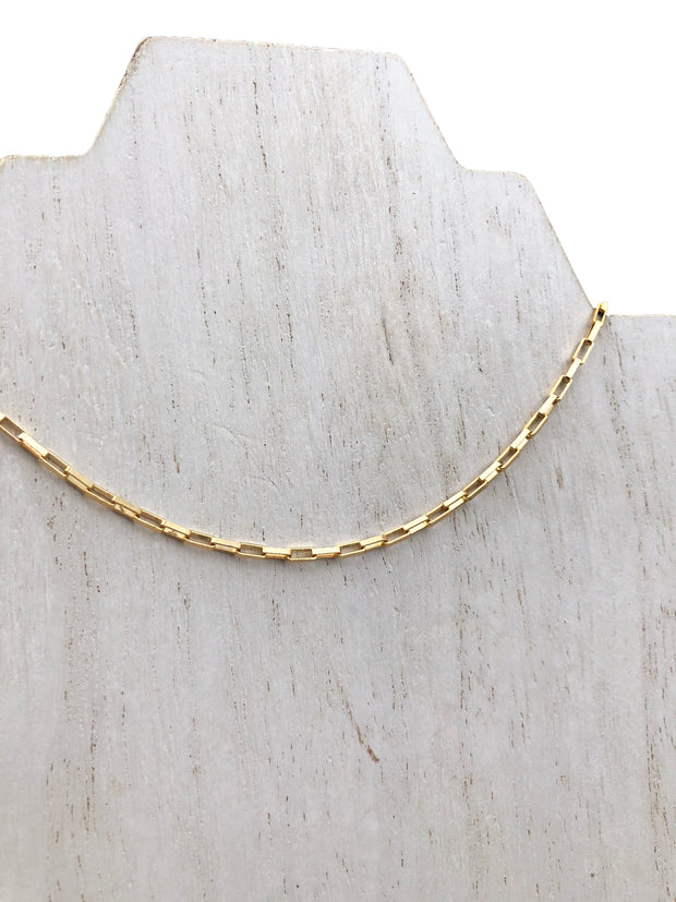 gold filled box chain choker - best brands for gold jewelry - 16 inch gold chain necklace