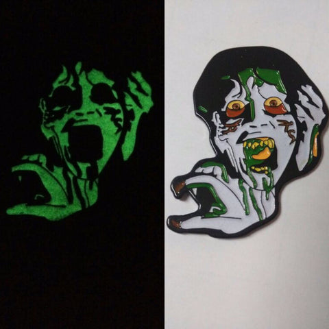 Glow in the dark soft enamel pin