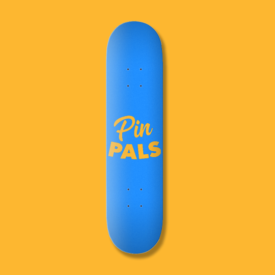 "Custom Printed 8"" Skateboard - PinPals LTD"