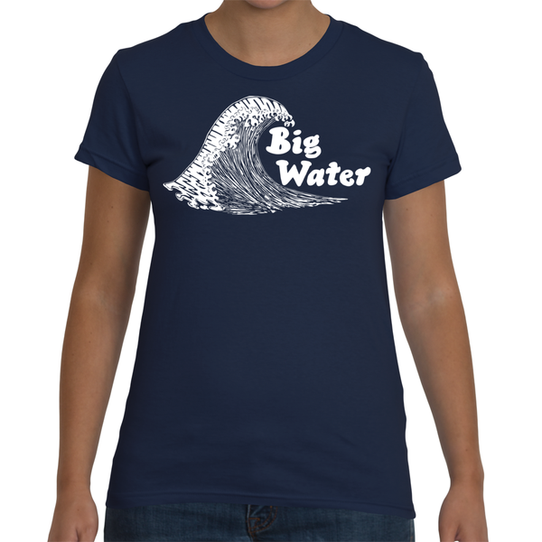 Women's Big Water Wave T-Shirt - American Apparel