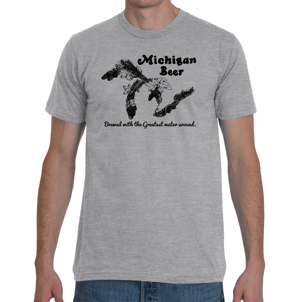 Michigan Beer T-Shirt - Brewed with the Greatest Water Around - Unisex