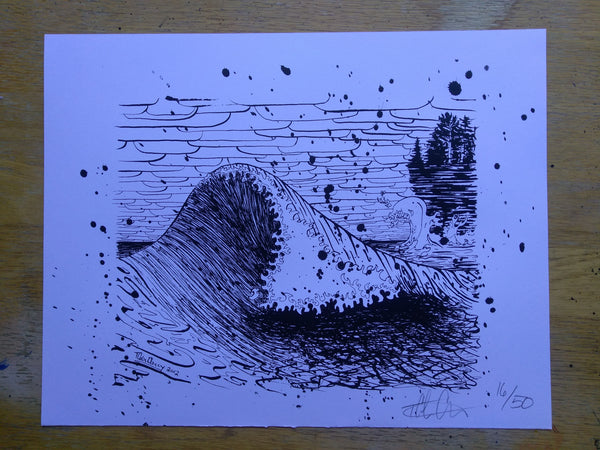 November Gale Wave Silkscreened Print - 11x14 - Limited Edition