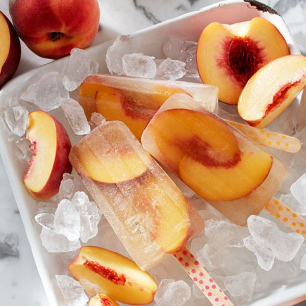 2 Ingredient SLIMMING Peach Iced Tea Popsicles