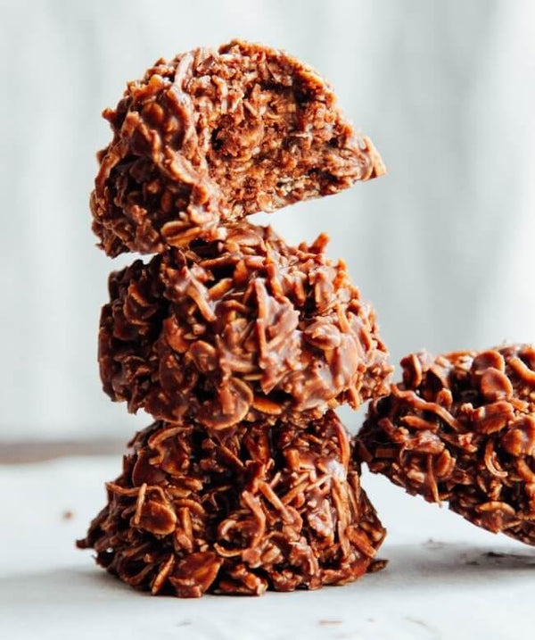 Chocolate + Peanut Butter Haystacks
